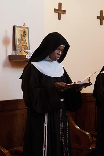 Jerusalem, mai 2011. Des soeurs du monastere des Clarisses de Jerusalem.