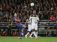 24.05.2012. Barcelona, Spain. UEFA Champions League. Semi-Final second leg. Picture show Sergio Busquets and Didier Drogba in action during match between FC Barcelona against Chelsea at Camp Nou