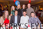 Alan O'Sullivan from Mounthawk Tralee celebrating his 30th Birthday with family at O'Donnells on Saturday. Pictured front l-r Cathy Glen, Alan O'Sullivan, Jack Murphy, Eddie Murphy, Back L to R Charlotte Murphy, Tara Murphy, Ciara Murphy, Denis Murphy