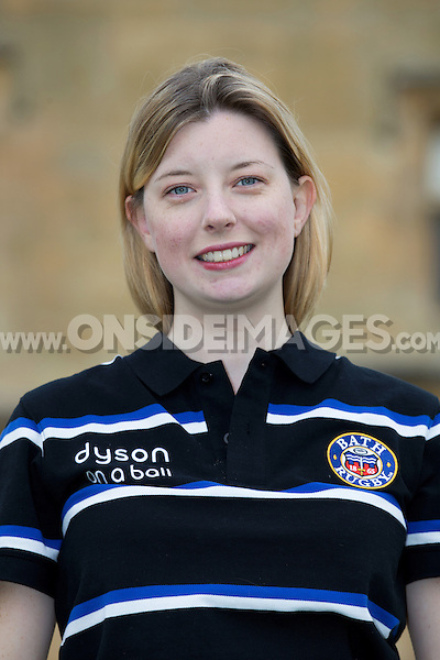 Laura Cook poses for a portrait at a Bath Rugby photocall. Bath Rugby Media Day on August 28, 2014 at Farleigh House in Bath, England. Photo by: Rogan Thomson for Onside Images