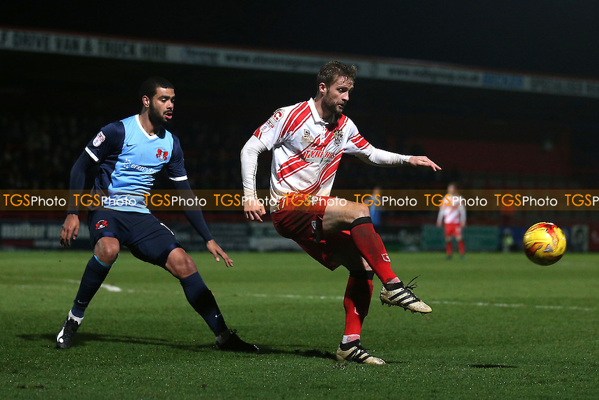 Fraser Franks of Stevenage and Paul McCallum of Leyton Orient during Stevenage vs Leyton Orient, Sky Bet EFL League 2 Football at the Lamex Stadium on 28th February 2017