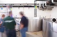 Lagares, Portuguese low and wide maceration vats. JM Jose Maria da Fonseca, Azeitao, Setubal, Portugal