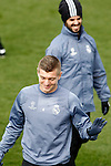 Real Madrid's Toni Kroos (l) and Isco Alarcon during training session. February 14,2017.(ALTERPHOTOS/Acero)