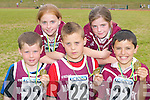 The Marian Park/Manor u10 mixed relay team that won gold at the Community Games County finals in An Riocht Castleisland last Sunday were L-r Dylan Raymond, Aoife OCarroll, Calvin Foley, Clara Heinrich and Jason Roche.
