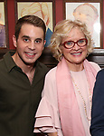 Ben Platt and Christine Ebersole attend the Michael Grief Sardi's Portrait Unveiling at Sardi's on 4/27/2017 in New York City.