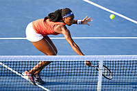 Washington, DC - August 3, 2019: Coco Gauff (USA) at the net during the WTA Woman's Doubles Championship at Rock Creek Tennis Center, in Washington D.C. (Photo by Philip Peters/Media Images International)