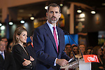 King Felipe VI of Spain attends tourism fair FITUR in Madrid, Spain. Month XX, 2015. (ALTERPHOTOS/Victor Blanco)