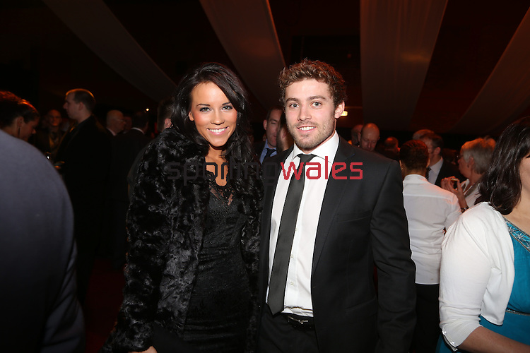 Wales Sport Awards 2013<br /> Jess Tumelty & Leigh Halfpenny<br /> 09.11.13<br /> ©Steve Pope-SPORTINGWALES