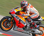 134.06.2014 Barcelona, Spain.  Moto GP friday free practice. Picture show Marc Marquez ridding Honda RC213V at Circuit de Barcelona-Catalunya