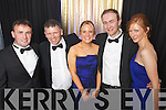 Pat Ryan, Liam Leane, Mary Mulvhill, Noel Scanlon and Marie McCarthy of Dairymaster celebrating winning the International and Overall awards at the Ernst & Young Entrepreneur awards in Citywest Hotel, Dublin on Thursday Night.