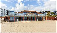 Sandbanks property right on the beach.