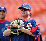 19 May 2007: Washington Nationals catcher Brian Schneider warms up prior to facing the Baltimore Orioles at RFK Stadium in Washington, DC. The Orioles defeated the Nationals 3-2 in the second game of the 3-game interleague series...Mandatory Photo Credit: Ed Wolfstein Photo