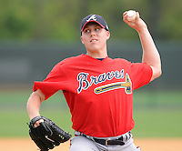 14 March 2009: LHP Cole Rohrbough of the Atlanta Braves at Spring Training camp at Disney's Wide World of Sports in Lake Buena Vista, Fla. Photo by:  Tom Priddy/Four Seam Images
