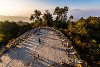 Nepalese Army soldiers perform calisthenics after sunrise on a hilltop in the village of Nagarkot, in the mountains above Bhaktapur, Nepal.