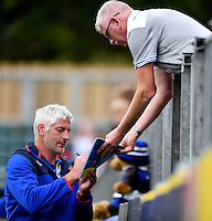 Bath Director of Rugby Todd Blackadder signs autographs during the pre-match warm-up. Aviva Premiership match, between Bath Rugby and Worcester Warriors on September 17, 2016 at the Recreation Ground in Bath, England. Photo by: Joseph Meredith / JMP for Onside Images