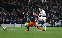 Tottenham Hotspur's Son Heung-Min with a second half shot<br /> <br /> Photographer Rob Newell/CameraSport<br /> <br /> UEFA Champions League Quarter-finals 1st Leg - Tottenham Hotspur v Manchester City - Tuesday 9th April 2019 - White Hart Lane - London<br />  <br /> World Copyright © 2018 CameraSport. All rights reserved. 43 Linden Ave. Countesthorpe. Leicester. England. LE8 5PG - Tel: +44 (0) 116 277 4147 - admin@camerasport.com - www.camerasport.com