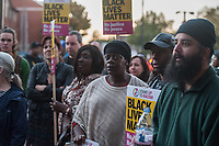 Stand up to racism hold a vigil in Harlesdon after footage of a violent arrest by 6 police officers on a black teenager went viral online. 9-10-18