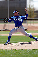 Josh Newman  - Kansas City Royals - 2009 spring training.Photo by:  Bill Mitchell/Four Seam Images