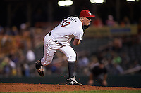 Tri-City ValleyCats pitcher Adam Whitt (40) delivers a pitch during a game against the Brooklyn Cyclones on September 1, 2015 at Joseph L. Bruno Stadium in Troy, New York.  Tri-City defeated Brooklyn 5-4.  (Mike Janes/Four Seam Images)