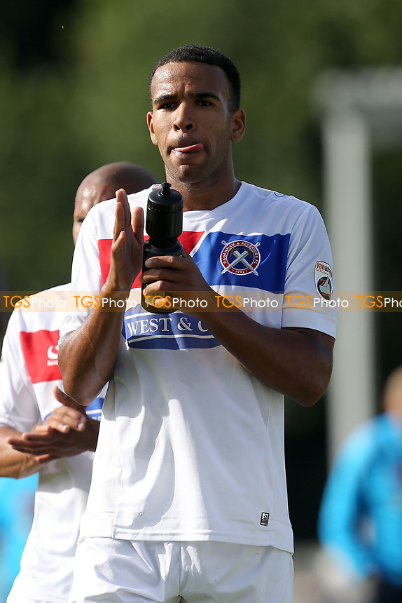 Kevin Lokko of Dagenham after Eastleigh vs Dagenham & Redbridge, Vanarama National League Football at the Silverlake Stadium on 12th August 2017