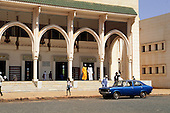 The Gambia. Mosque with steps.
