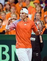 21-9-08, Netherlands, Apeldoorn, Tennis, Daviscup NL-Zuid Korea, :  Thiemo de Bakker