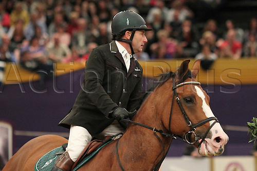 10.10.2010 The Horse of the Year Show from the NEC in Birmingham. HOYS leading Showjumper of the year. Peter Charles riding Murkas Rupert R