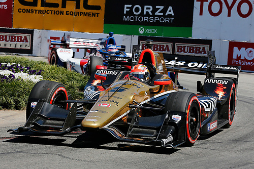 15-17 April, 2016, Long Beach, California USA<br /> 5 James Hinchcliffe<br /> ©2016, Perry Nelson<br /> LAT Photo USA
