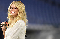 The Tv presenter Diletta Leotta smiles prior to the Serie A football match between SS Lazio and Cagliari Calcio at Olimpico stadium in Rome ( Italy ), July 23th, 2020. Play resumes behind closed doors following the outbreak of the coronavirus disease. Photo Andrea Staccioli / Insidefoto
