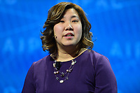 Washington, DC - March 5, 2018: U.S. Rep. Grace Meng speaks during the 2018 American Israel Public Affairs Committee (AIPAC) Policy Conference at the Washington Convention Center March 5, 2018.  (Photo by Don Baxter/Media Images International)