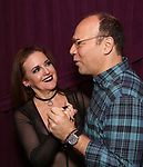 "Jennifer Simard and Danny Burstein backstage after ""Stigma"" on September 9, 2018 at the Green Room 42 in New York City."