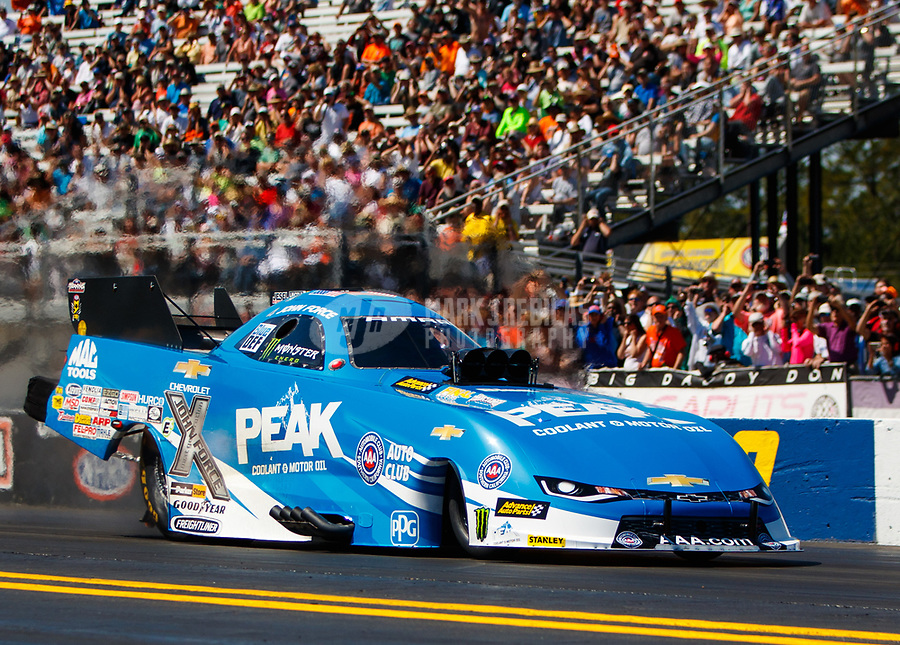 Mar 19, 2017; Gainesville , FL, USA; NHRA funny car driver John Force during the Gatornationals at Gainesville Raceway. Mandatory Credit: Mark J. Rebilas-USA TODAY Sports