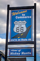 Downtown Commerce Oklahoma on Route 66.