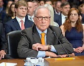 Former United States Senator Sam Nunn (Democrat of Georgia) at the witness table prior to introducing Christopher A. Wray to testify on his nomination to be Director of the Federal Bureau of Investigation (FBI) before the US Senate Committee on the Judiciary on Capitol Hill in Washington, DC on Wednesday, July 12, 2017.<br /> Credit: Ron Sachs / CNP<br /> (RESTRICTION: NO New York or New Jersey Newspapers or newspapers within a 75 mile radius of New York City)