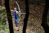 Brina Bozc de Eslovaquia apunta en arqueria arco desnudo en el Parque San Antonio durante los Juegos Mundiales 2013 en Cali, Colombia, miercoles 31 de julio 2013.<br /> Foto: Coldeportes/Archivolatino<br /> <br /> COPYRIGHT: Coldeportes. Imagen distribuida para difusi&radic;?n de los Juegos Mundiales 2013. Prohibida su venta y uso comercial.