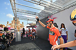 Vincenzo Nibali (ITA) Bahrain-Merida at sign on before Stage 11 of the 2019 Giro d'Italia, running 221km from Carpi to Novi Ligure, Italy. 22nd May 2019<br /> Picture: Massimo Paolone/LaPresse | Cyclefile<br /> <br /> All photos usage must carry mandatory copyright credit (© Cyclefile | Massimo Paolone/LaPresse)