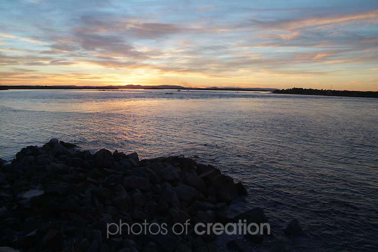 Sunset on The Clarence at Yamba NSW