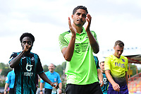 Kyle Naughton of Swansea City applauds the fans at the final whistle during the pre season friendly match between Exeter City and Swansea City at St James Park in Exeter, England, UK. Saturday, 20 July 2019