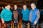 Peg Cahill, Kathleen Meeley, Catherine Cotter, Maureen O'Mahoney all from Knocknagoshel at the Sliabh Luachra Active Retired NetworkTea Dance in the River Island Hotel in Castleisland on Sunday.
