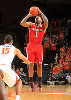 North Carolina State guard Trevor Lacey (1) during the game Jan. 7, 2015, in Charlottesville, Va. Virginia defeated NC State  61-51.