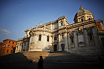 Italy, Rome, November 2, 2011..General view of Santa Maria Maggiore square in Rome November2 , 2011. VIEWpress / Eduardo Munoz Alvarez..Rome is the capital of Italy and the country's largest and most populated city and comune, with over 2.7 million residents in 1,285.3 km2 (496.3 sq mi). The city is located in the central-western portion of the Italian Peninsula, on the Tiber River within the Lazio region of Italy.