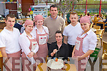 RESTAURANT: The Jam restaurant Ballyseedy Garden Centre, celebrated its 10th birthday on Friday  cutting the birthday cake was manager Catherine Doolan looking on were l-r: Piotr Bodurg,Wioletta Czyz, Margaret Kearney, Nathan O'Donnell, Andrius Lucinckas and Inga Balciunitu................. . ............................... ..........