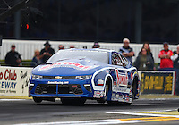 Feb 10, 2017; Pomona, CA, USA; NHRA pro stock driver Jason Line during qualifying for the Winternationals at Auto Club Raceway at Pomona. Mandatory Credit: Mark J. Rebilas-USA TODAY Sports