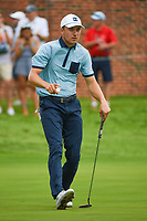 Jordan Spieth (USA) after sinking his birdie putt on 16 during round 1 of the 2019 Charles Schwab Challenge, Colonial Country Club, Ft. Worth, Texas,  USA. 5/23/2019.<br /> Picture: Golffile | Ken Murray<br /> <br /> All photo usage must carry mandatory copyright credit (© Golffile | Ken Murray)