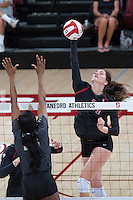 STANFORD, CA - September 9, 2016: Audriana Fitzmorris at Maples Pavilion. The Purdue Boilermakers defeated the Stanford Cardinal 3 - 2.