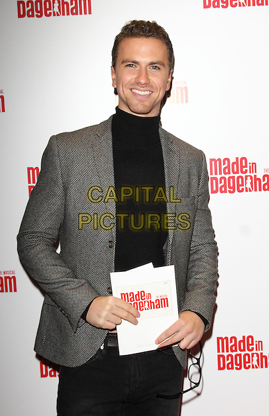 LONDON, ENGLAND - NOVEMBER 05: Richard Fleeshman attends the 'Made In Dagenham' press night at the Adelphi Theatre on November 5, 2014 in London, England<br /> CAP/ROS<br /> &copy;Steve Ross/Capital Pictures