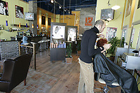 Montreal (Qc) CANADA,2005 File Photo<br /> <br /> Beauty and hair salon<br /> NO MODEL RELEASE