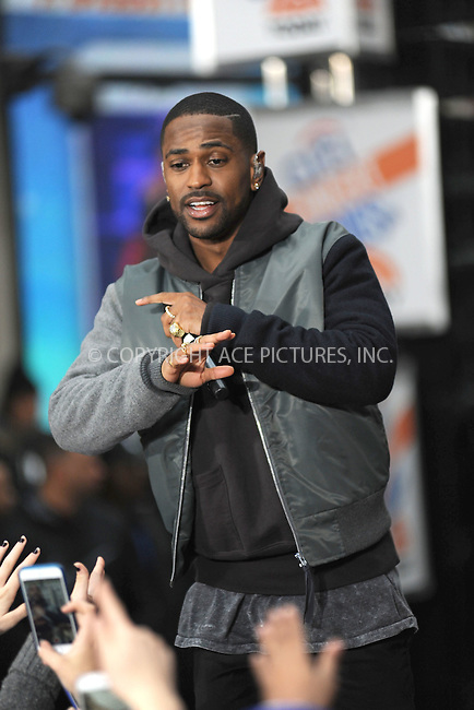 WWW.ACEPIXS.COM<br /> November 18, 2015 New York City<br /> <br /> Big Sean performing in concert on NBC TODAY at Rockefeller Plaza on November 12, 2015 in New York City.<br /> <br /> Credit: Kristin Callahan/ACE<br /> <br /> Tel: (646) 769 0430<br /> e-mail: info@acepixs.com<br /> web: http://www.acepixs.com