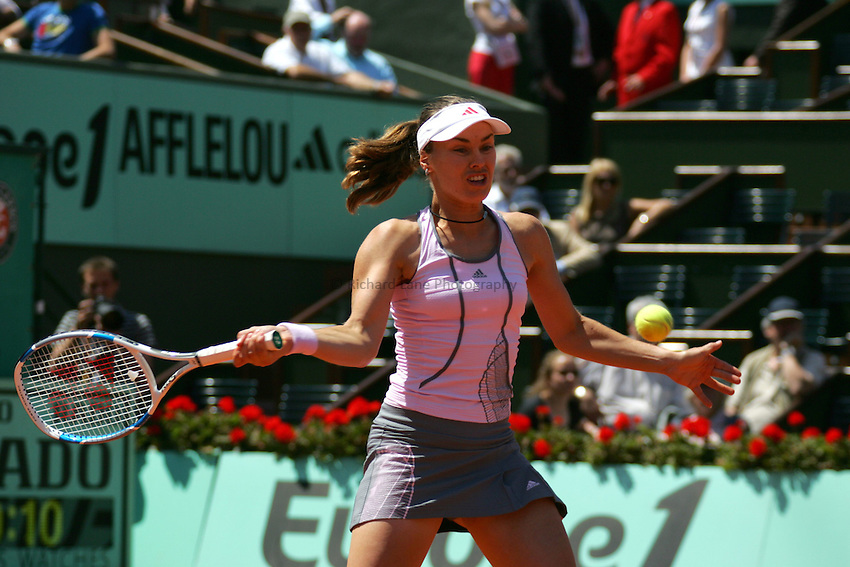 Photo: Iconsport/Richard Lane Photography..Roland Garros 2006..06/06/2006..Martina Hingis.