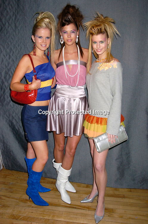 Crystal Hunt, Peyton List and Stephanie Gatschet ..at the YM Magazine Teens in Fashion design competition and runway show on February 9, 2004 in New York City. Photo by Robin Platzer, Twin Images.